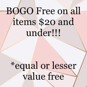 Other - BOGO Free on all items $20 and under